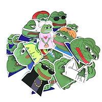 Sticker ếch xanh Pepe Set 60 ảnh siêu bựa