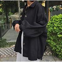 Áo khoác Kaki Nam Nữ Unisex - áo khoác Simple vải kaki tay dài form rộng