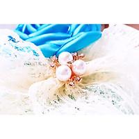 Cài Áo Nữ Sam Handmade Hoa Hồng Biếc Nơ  Ren Phồng Tươi Trẻ CA012, Thích Hợp Cài Áo  Váy, Đi Tiệc, Làm Quà Tặng