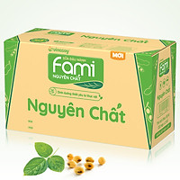 Thùng 10 Hộp Sữa Đậu Nành Fami Nguyên Chất (1 lít / Hộp)