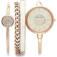 Bộ Đồng hồ đeo tay hiệu Anne Klein AK/1470RGST kèm 3 vòng đeo tay