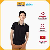 Áo Phông Polo Nam YODY Pique Mắt Chim Phối Kẻ Kiểu Dáng Trẻ Trung Thoáng Mát - APM3639