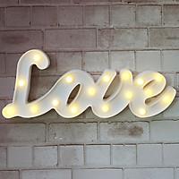 Đèn led chữ Love uốn màu trắng