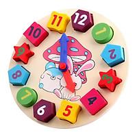 Đồ chơi đồng hồ gỗ Mykids- đồ chơi trí tuệ