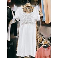 Váy trắng dúm ngực siêu xinh. Size S M