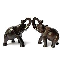 Cặp tượng voi gỗ trang Trí - size nhỏ