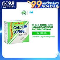 Thực phẩm chức năng bổ xương bổ sung Calcium ( canxi) và Vitamin D3- Calcium softgel – Robinson Pharma Usa - Hộp 100 viên