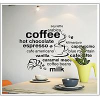 Decal dán trang trí quán coffee - dán quán cà phê AmyShop
