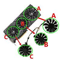 2 Cái/bộ Quạt Đồ Họa 4 Chân, Bộ Làm Mát VGA, Dành Cho KFA2 GTX 1660 GTX1660 Ti RTX 2060 Siêu Video Thay Thế