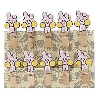 Bộ Kẹp Ảnh Gỗ -  Thỏ Cooky (9 x 12 cm)