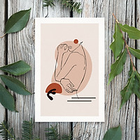 Tranh Poster Phong cách tối giản, Bohemian, Lady, Lifestyle, Fashion, Minimalism, Pastel, SOYN PTK017