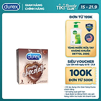 Bao cao su Durex Naughty Chocolate hộp 3 bao