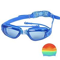 Kính Bơi Thể Thao Kèm Bịt Tai Cao Cấp Chống Nước Chống Tia UV (Tặng Kèm 1 Nón Bơi)