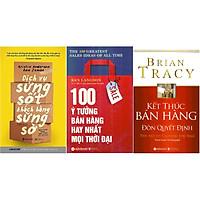 Bộ Sách Hay Về Ý Tưởng Đột Phá, Chinh Phục Khách Hàng (Gồm 3 Cuốn: Dịch Vụ Sửng Sốt Khách Hàng Sững Sờ + 100 Ý Tưởng Bán Hàng Hay Nhất Mọi Thời Đại + Kết Thúc Bán Hàng Đòn Quyết Định ) Tặng Sổ Tay Giá Trị (Khổ A6 Dày 200 Trang)