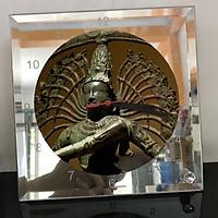 Đồng hồ thủy tinh vuông 20x20 in hình Buddhism - đạo phật (3) . Đồng hồ thủy tinh để bàn trang trí đẹp chủ đề tôn giáo