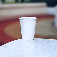 50 LY CỐC GIẤY TRẮNG KÈM NẮP BẰNG - NHIỀU KÍCH THƯỚC