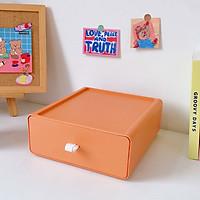 Hộp kệ lưu trữ ngăn kéo đựng đồ đa năng màu sắc xếp chồng thành tủ mini