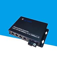 Converter quang 4 port lan 10/100/1000M GNETCOM GNC-2114S-20A - Hàng Chính Hãng