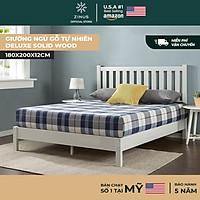 Giường Ngủ Zinus Gỗ Tự Nhiên Sang Trọng Deluxe Solid Wood