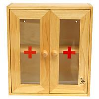 Tủ Thuốc Cửa Mica Gỗ Đức Thành - 40241 - Hàng Chính Hãng