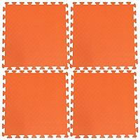 Bộ 4 tấm Thảm xốp lót sàn an toàn Thoại Tân Thành - màu cam (60x60cm)