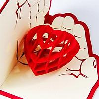 Thiệp 3D - Tình yêu trong bàn tay chúng ta - T36