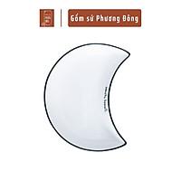 Bộ bát đĩa trăng  cao cấp mã PDS007, hình bán nguyệt phong cách hiện đại