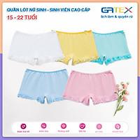 Set 3 Quần Lót Nữ Sinh, Sinh Viên Cao Cấp Vải Cotton 4 Chiều Charm teen GATEX từ 15 đến 22 tuổi