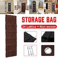 24 Lattice Non-woven Over Door Shoe Organiser Hanging Storage Storage Organiser Bag Closet Container