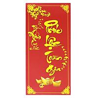 Bao Lì Xì Đỏ Chúc Mừng Năm Mới - Phúc Lộc Toàn Gia (10 Cái)