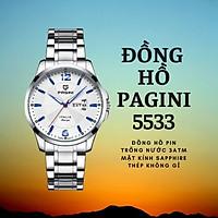 Đồng hồ nam PAGINI PA5533W dây thép không gỉ - Lịch ngày cao cấp tinh tế và lịch lãm