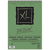Giấy vẽ dành cho vẽ màu chì Canson XL Dessin 8k, 40 tờ, 160gsm