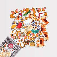 Corgi chó - Set 30 sticker hình dán