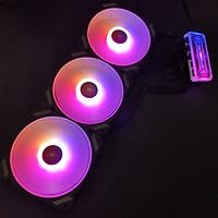 3 Quạt tản nhiệt, Fan case V3 Led RGB, quạt 12cm, kèm theo bộ Hub khiển Led ARGB chỉnh màu từ xa