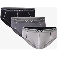 Combo 3 quần sịp nam quần lót nam Tam Giác Cao Cấp MRM FASHION ( Đen,Ghi)