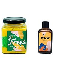 Combo Muối tắm gội BareSoul Free Body & Hair Scrub 300g + Dầu gội đầu khô BareSoul WOW dry shampoo 50g