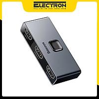 Thiết bị chia cổng HDMI 2 chiều Baseus Matrix HDMI Splitter (2 Devices to 1 Screen or 1 Device to 2 Screen, Support 4K30Hz/ 4k60Hz) - Hàng chính hãng