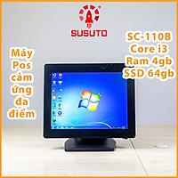Máy POS bán hàng SC-110B - Hàng chính hãng  (i3/4G DDR RAM/64G SSD/15 inch/Black/1 màn)