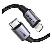 Cáp USB Type C ra Lightning 1M Màu Đen  Dây bện nylon Ugreen UC60759US234 Hàng chính hãng