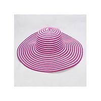 Nón vải vành to chống nắng tốt họa tiết sọc ngang, có dây gài NVT01