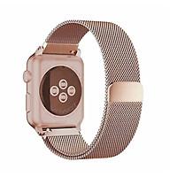 Dây đeo dành cho Apple Watch Milanese Loop màu vàng hồng cực hot