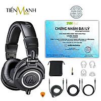[Chính Hãng Japan] Tai Nghe Kiểm Âm Audio Technica ATH-M50X Studio Monitor Headphones Professional ATH M50X - Kèm dây line 3m, 1.2m thẳng, 1.2m dây xoắn, đầu chuyển 3.5-6.3mm, Túi đựng, Móng Gẩy DreamMaker