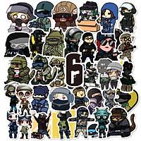 Sticker 50 miếng hình dán CS-GO setB