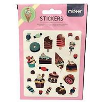 Hình  dán Mideer Sticker chủ đề Ice Cream - Các cây kem đáng yêu cho bé từ 3 tuổi