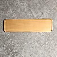 Khay gỗ chữ nhật dài viền mỏng
