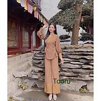 Set đồ nữ đồ lam đi chùa
