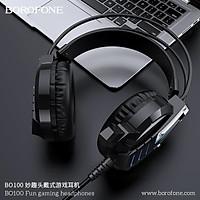 Tai Nghe Gaming Chụp Tai Có Mic Đàm Thoại Cho Máy tính chuyên cho game thủ BO100 Borofone-Hàng Chính Hãng