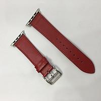 Dây da đeo thay thế Apple watch - khoá H  màu Đỏ