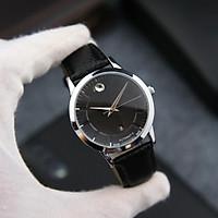 Đồng hồ nam dây da cao cấp MO000001 chống nước 3ATM - Thiết kế sang trọng, lịch lãm