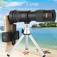 Binoculars High Power HD Zoom Monocular Precise Telescope Pocket Binoculo Hunting Optical Prism Scope Phone Lens